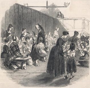 Early Victorian school for girls | Source: Illustrated London News 1846