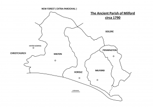 The extent of the Ancient Parish of Milford | Courtesy of C.J.Sanders