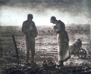 Peasants praying in a field | Wikimedia Commons