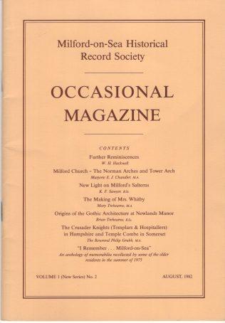 Occasional Magazine New Series, Volume 1 Nos 1 & 2 1980-82