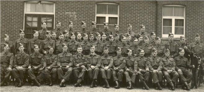 Homeguard outside Victoria Hall 1941 | Courtesy of MOSHRS