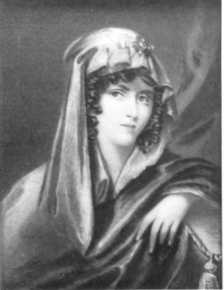 Mrs Whitby in mourning on the death of Admiral Cornwallis in 1819 | Courtesy of MOSHRS