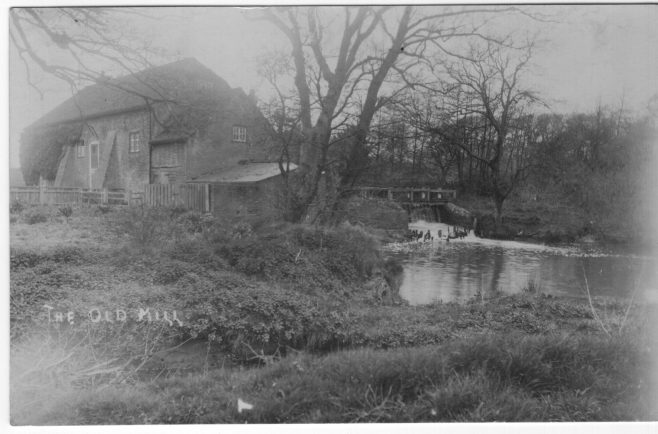 Efford Mill c 1900. The bridge is shown clearly   Chris Hobby postcard collection