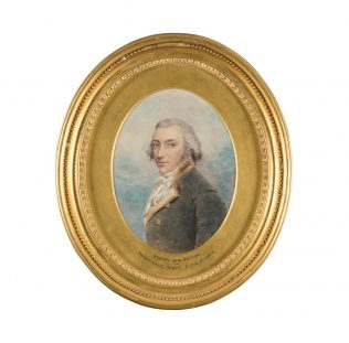 Rear Admiral John Peyton | Believed to be by George Dance reproduced courtesy of K Armstrong