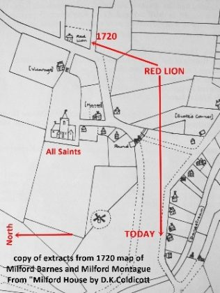 Map showing the Red Lion