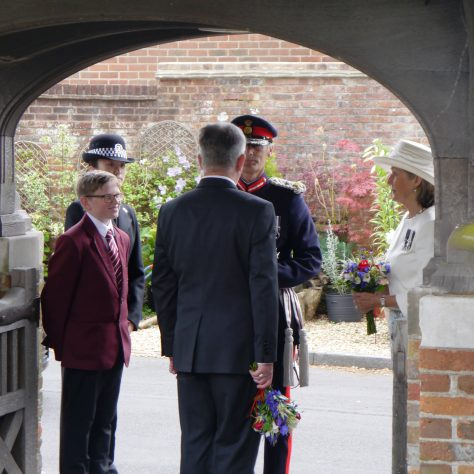 Greeting the Lord Lieutenant | Bob Braid